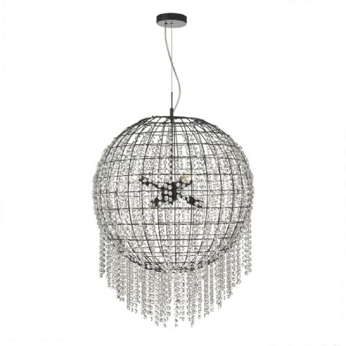 Lupita 6 Light Pendant Black Crystal (Double Insulated) BXLUP0622-17